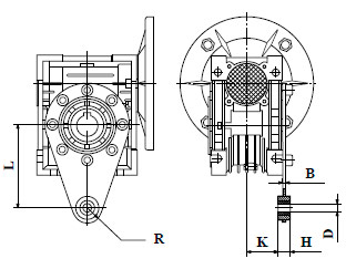 Реактивная штанга червячного редуктора NMRV 050