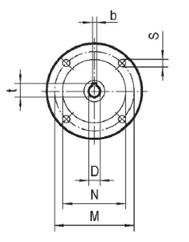 Чертеж: габаритно-присоединительные размеры одноступенчатого червячного редуктора NMRV 050